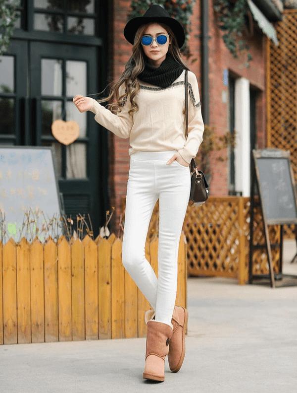 Warm High Waist Pencil Pants Autumn & Winter Boho Styles » Original Earthwear
