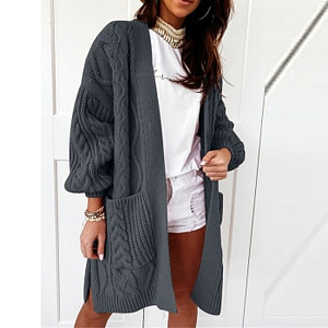 Knitted Long Sleeve Cardigan