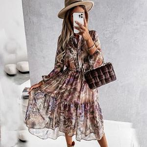 Elegant Floral Casual Boho Dress Boho Style Dresses » Original Earthwear