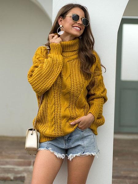 Warm Knitted Turtleneck Pullover Autumn & Winter Boho Styles » Original Earthwear