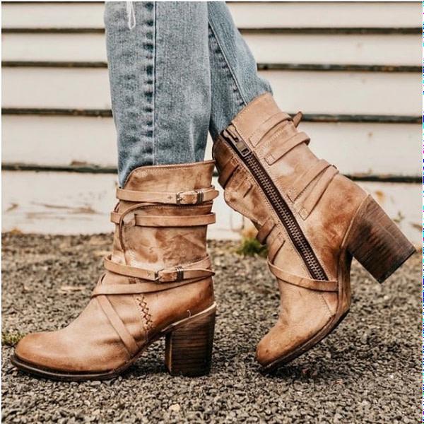 Classic Leather Mid-Calf Boho Boots Autumn & Winter Boho Styles » Original Earthwear