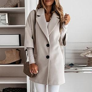Loose Woolen Winter Casual Coat Autumn & Winter Boho Styles » Original Earthwear