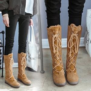 Lace-Up Mid CalfWarm Winter Boots Autumn & Winter Boho Styles » Original Earthwear