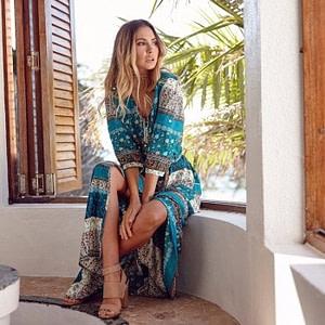 Summer Bohemian Maxi Dress