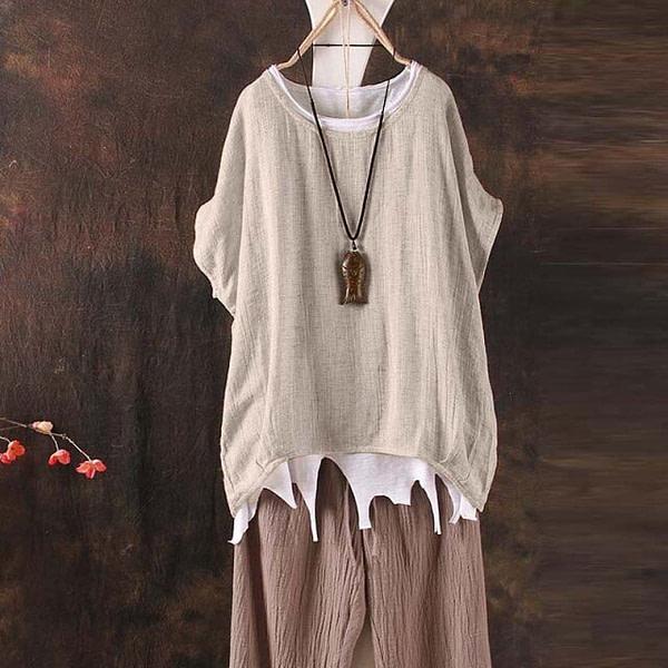 Slouchy Boho Style Short Sleeve Top Bohemian Tops » Original Earthwear