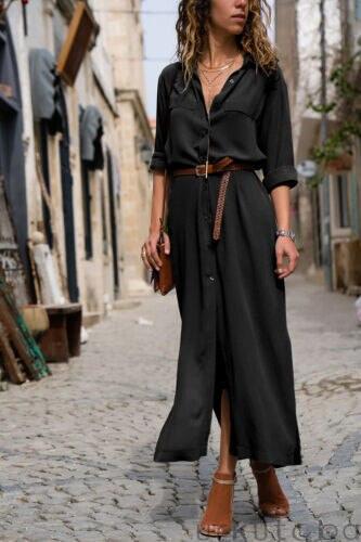 Casual Long Sleeve Boho Maxi Dress Autumn & Winter Boho Styles » Original Earthwear