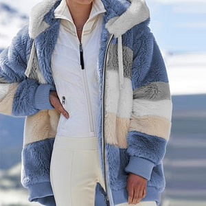Casual Hooded Faux Fur Jacket