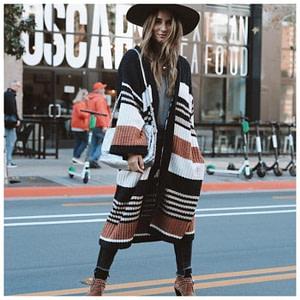 Long Sleeve Knitted Boho Cardigan
