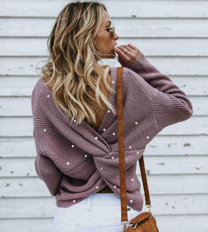 Criss Cross Cashmere Knitted Jumper