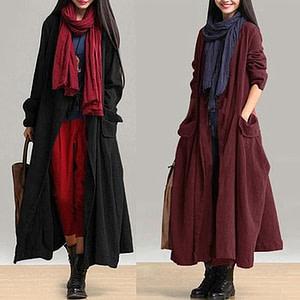 2021  Winter Open Front Boho Style Coat Autumn & Winter Boho Styles » Original Earthwear